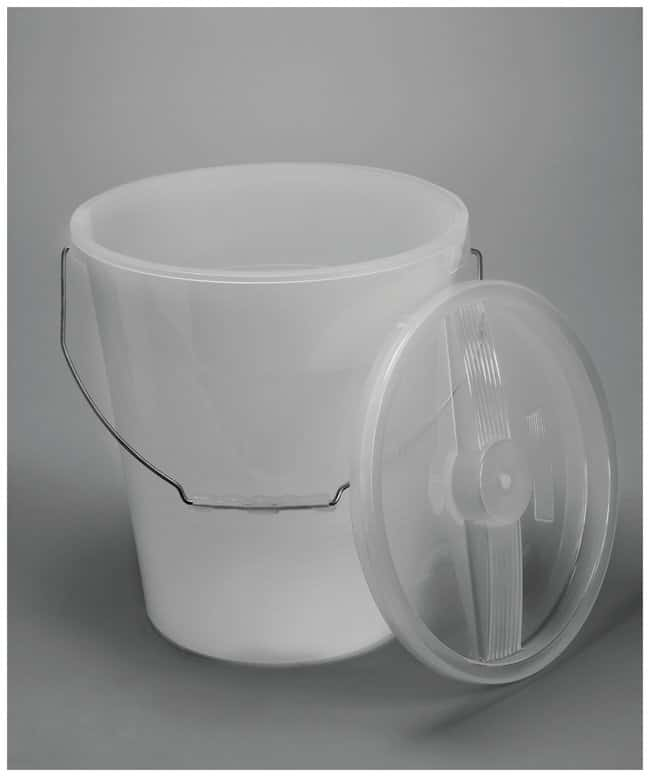 Bel-Art™ SP Scienceware™ Large Pails 13.2L, Polypropylene, White, With swinging handle Bel-Art™ SP Scienceware™ Large Pails