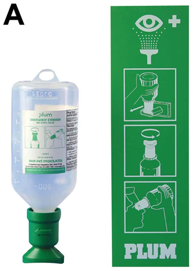 f12ecf3830f Bel-Art PLUM Emergency Open Eye Wash Stations Open Eyewash Station with