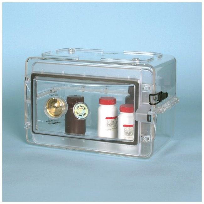Bel-Art™SP Scienceware™ Secador™ Mini Desiccator Cabinet Mini desiccator cabinet; D x W x H: 10 x 13.37 x 8.5 in. (25.4 x 33.8 x 21.6cm) Plastic Non-Vacuum Desiccators