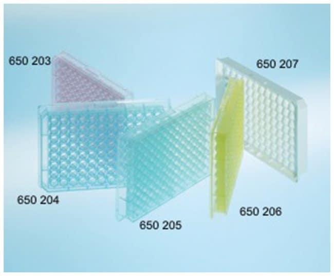 Greiner Bio-One96-Well-Mikrotiterplatten mit kaminförmigen Wells und rundem (U) Böden Rot Greiner Bio-One96-Well-Mikrotiterplatten mit kaminförmigen Wells und rundem (U) Böden