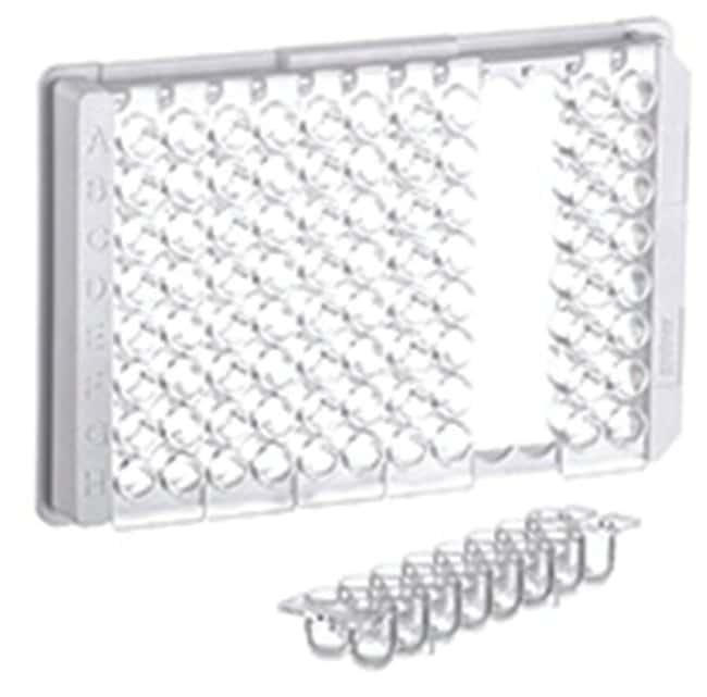 Greiner Bio-One 96-Well Polystyrene Round Bottom Strip Plates, 2 x 8 Strips:Dishes,