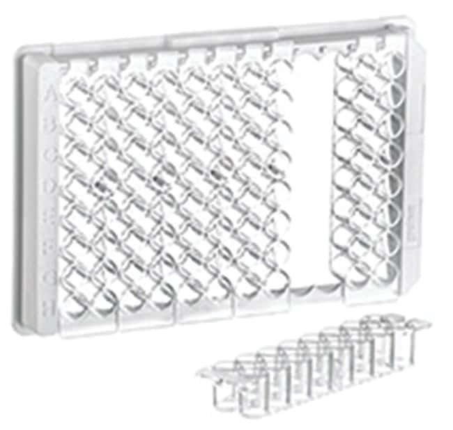 Greiner Bio-One 96-Well Polystyrene Flat Bottom Strip Plates, 2 x 8 Strips:Dishes,