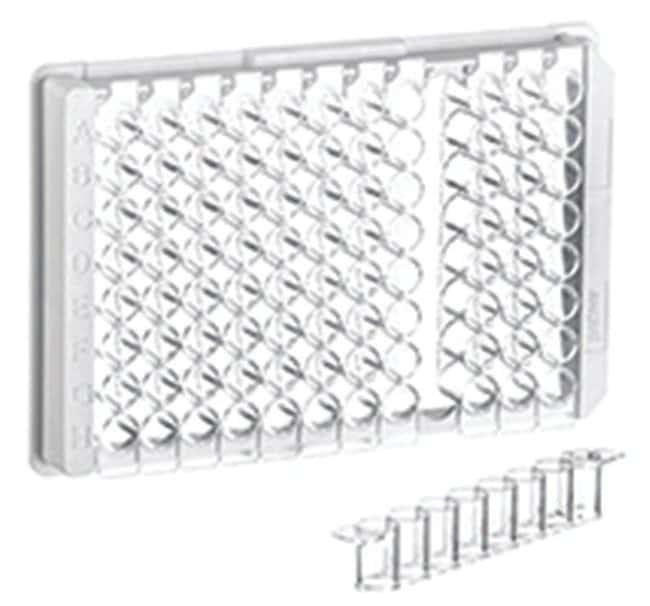 Greiner Bio-One96-Well Polystyrene Flat Bottom Strip Plates, 1 x 8 strips:Microplates:Microplate