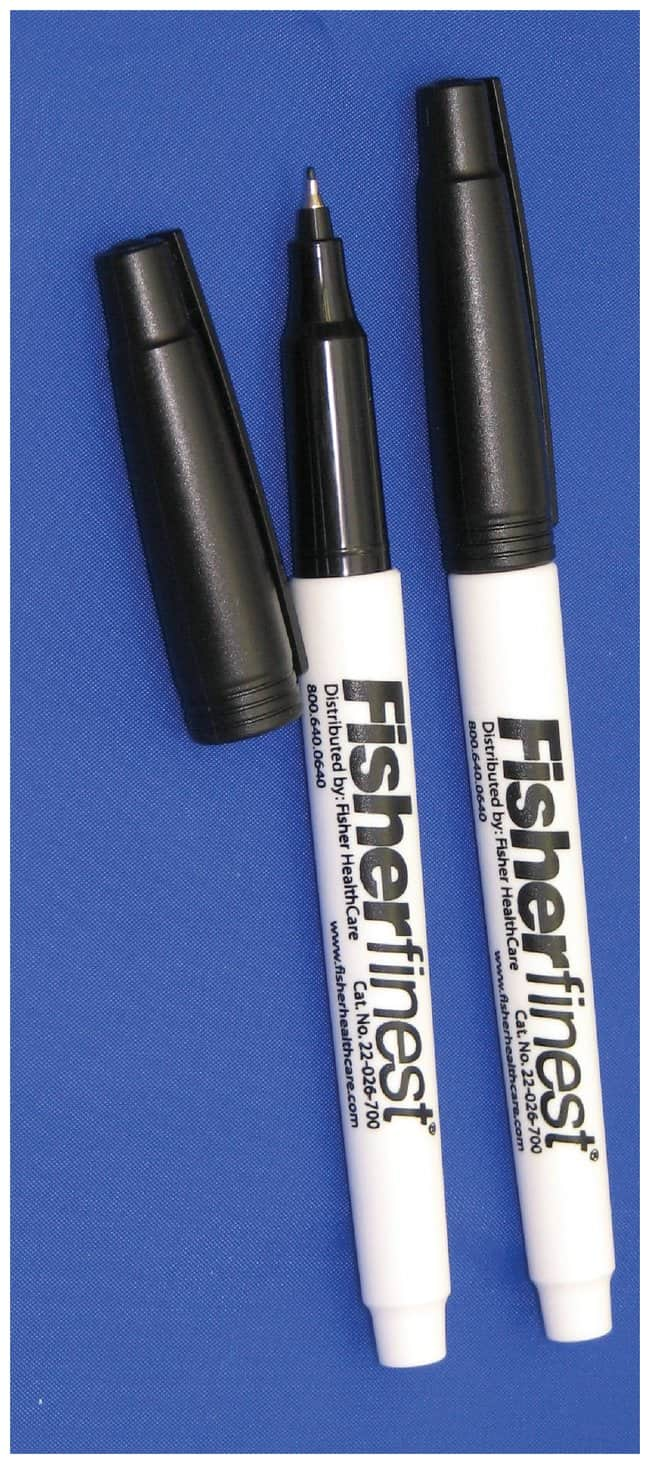 Fisherbrand Fisherfinest Chemically Resistant Markers  Black; 12/box:Gloves,