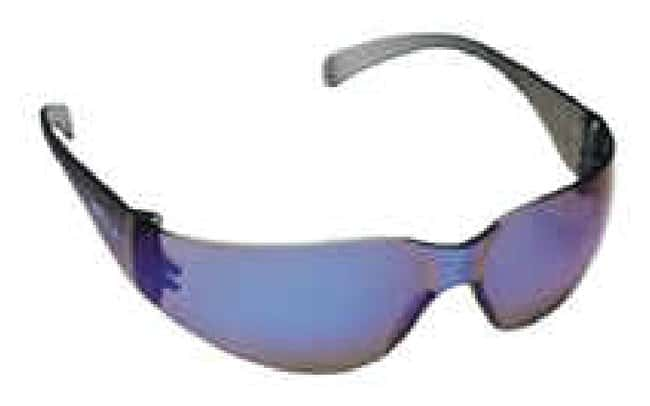 3M Virtua Eyewear Blue Mirror Temples; Blue Mirror hardcoat Lens:Gloves,