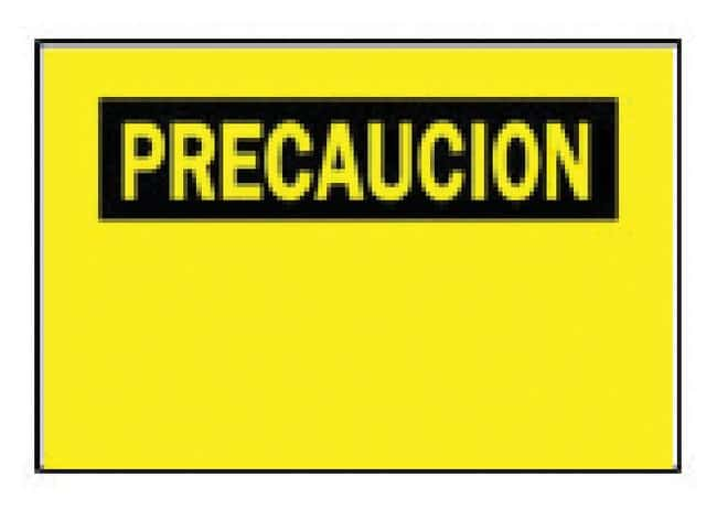 Brady Sign and Label Blanks Yellow with black/yellow header; 7H x 10 in.