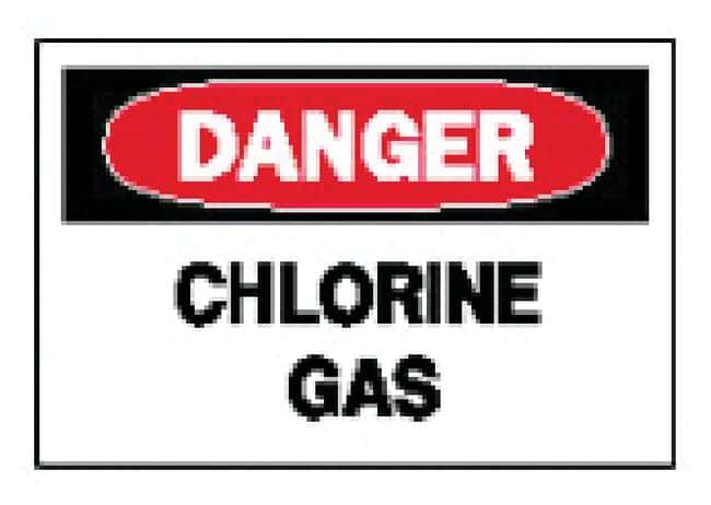 Brady Danger: Chlorine Gas Signs Aluminum; H x W: 25.4 x 35.56cm (10 x