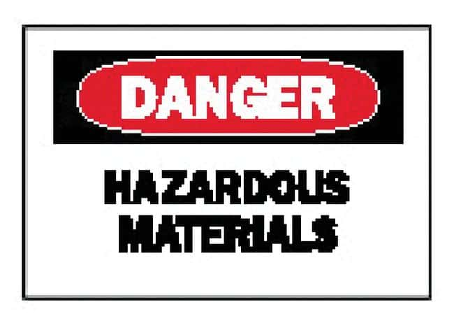 Brady Chemical and Hazardous Materials Signs: Hazardous Materials Sign: