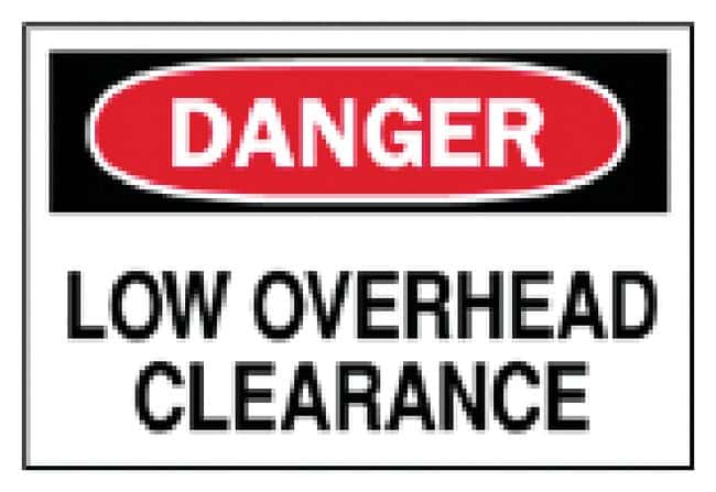 Brady Machine and Operational Signs: Low Overhead Clearance Sign: Danger