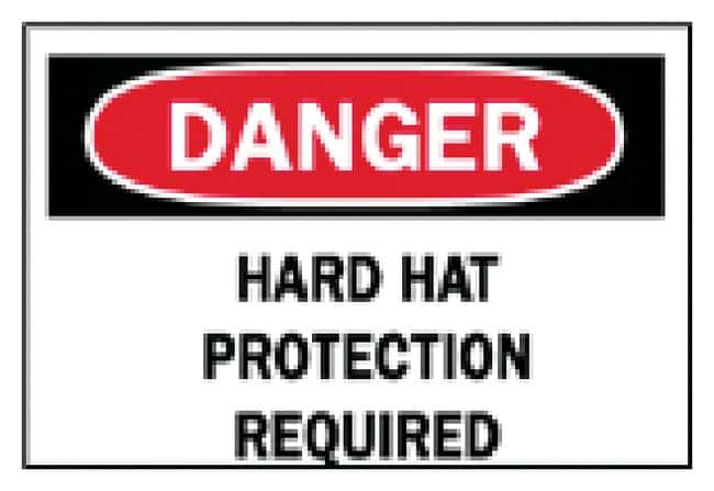 Brady Protective Wear Signs: Hard Hat Sign: Danger - Hard Hat Protection