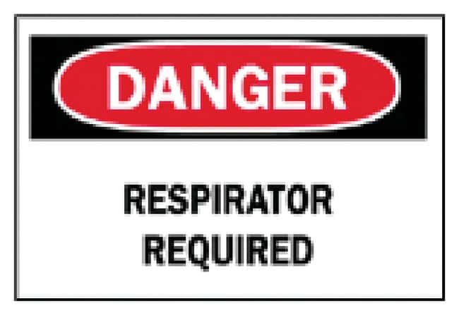 Brady Protective Wear Signs: Respirator Sign: Danger - Respirator Required:Gloves,