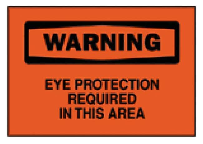 Brady Eye Protection Signs Sign: Warning - Eye Protection Required in this