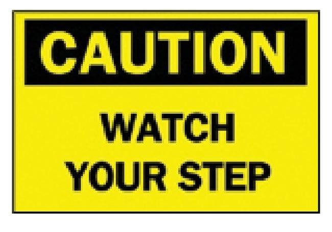 Brady Caution: Watch Your Step Sign Aluminum; H x W: 25.4 x 35.56cm (10