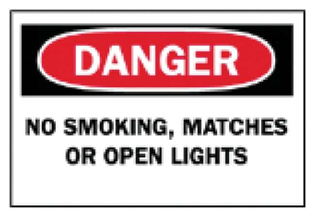 Brady No Smoking Signs:Gloves, Glasses and Safety:Facility Maintenance
