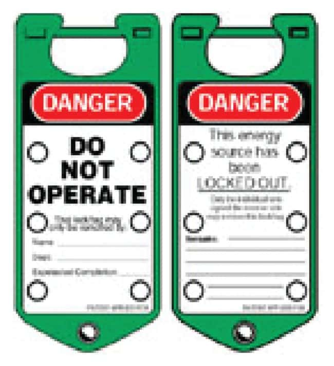 Brady Labeled Lockout Hasps Labeled Lockout Hasps (Green):Gloves, Glasses