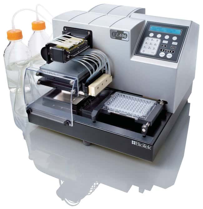 BioTek EL406 Microplate Washer/Dispenser  Three reagent dispensers; 96-,