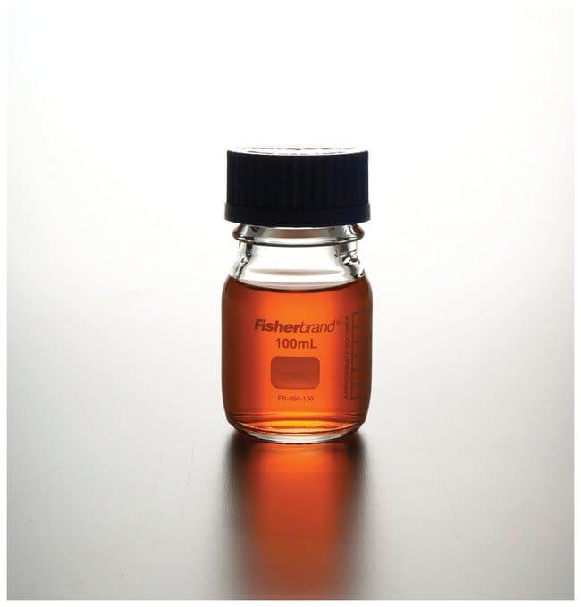 Fisherbrand™Frascos de medios de vidrio reutilizables con tapón: Bottles Botellas, frascos y jarras