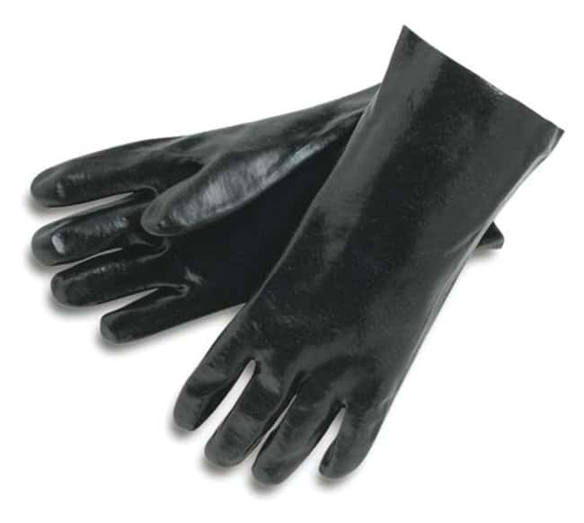 MCR Safety Smooth Finish PVC Dipped Gloves 18 in. gauntlet; Black; Size: