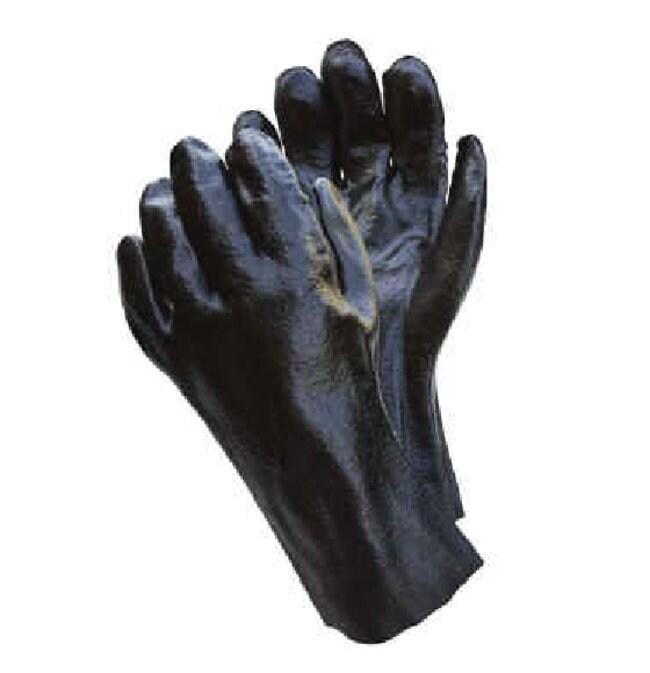 MCR Safety Rough Finish PVC Dipped Gloves Black; Size: 9.5:Gloves, Glasses