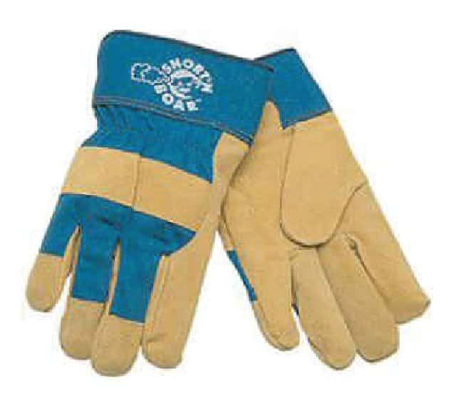 MCR Safety Pig Leather Gloves with Rubberized Cuffs Large:Gloves, Glasses