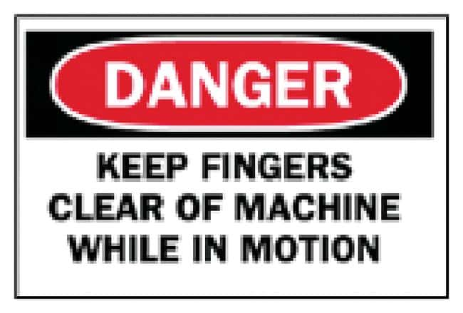 Brady Machine and Operational Signs: Keep Fingers Clear of Machine Sign: