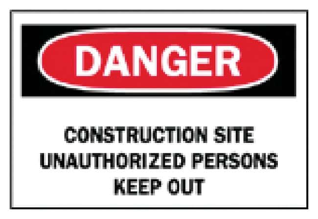 Brady Temporary Signs: Construction Site Unauthorized Persons Keep Out