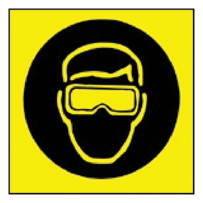 Brady Sign: Goggles Pictogram Sign: GOGGLES PICTOGRAM:Gloves, Glasses and