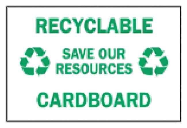 Brady Recycle and Environment Signs:Gloves, Glasses and Safety:Facility