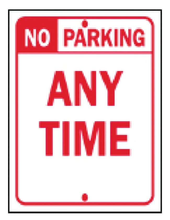 Brady Traffic Signs: No Parking Any Time Sign: No Parking Any Time:Gloves,