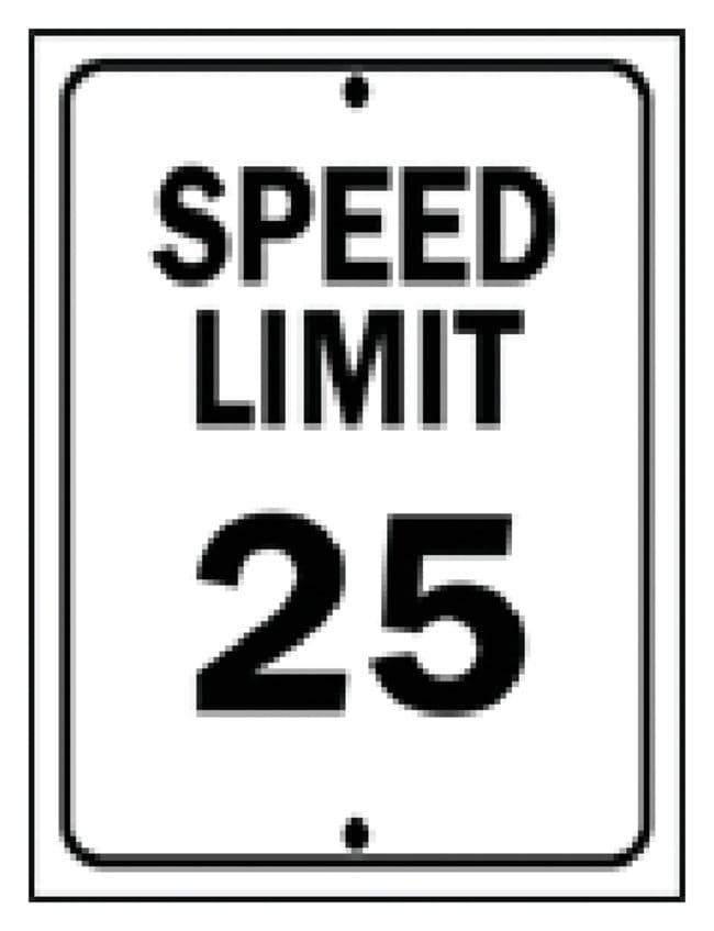 Brady Traffic Signs: Speed Limit 25MPH Sign: SPEED LIMIT 25 MPH:Gloves,