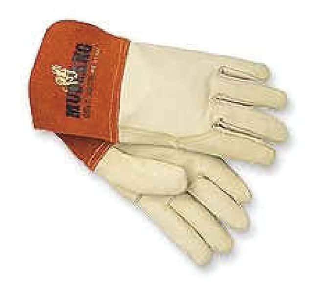 MCR Safety Cow Leather Gloves with Leather Cuffs Medium:Gloves, Glasses