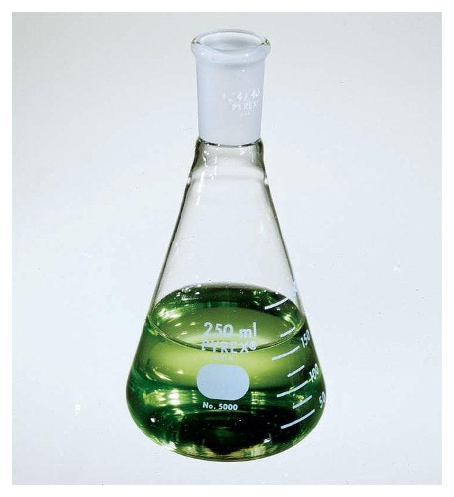 PYREXNarrow Mouth Erlenmeyer Flask, Standard Taper Joint 50 mL:Flasks