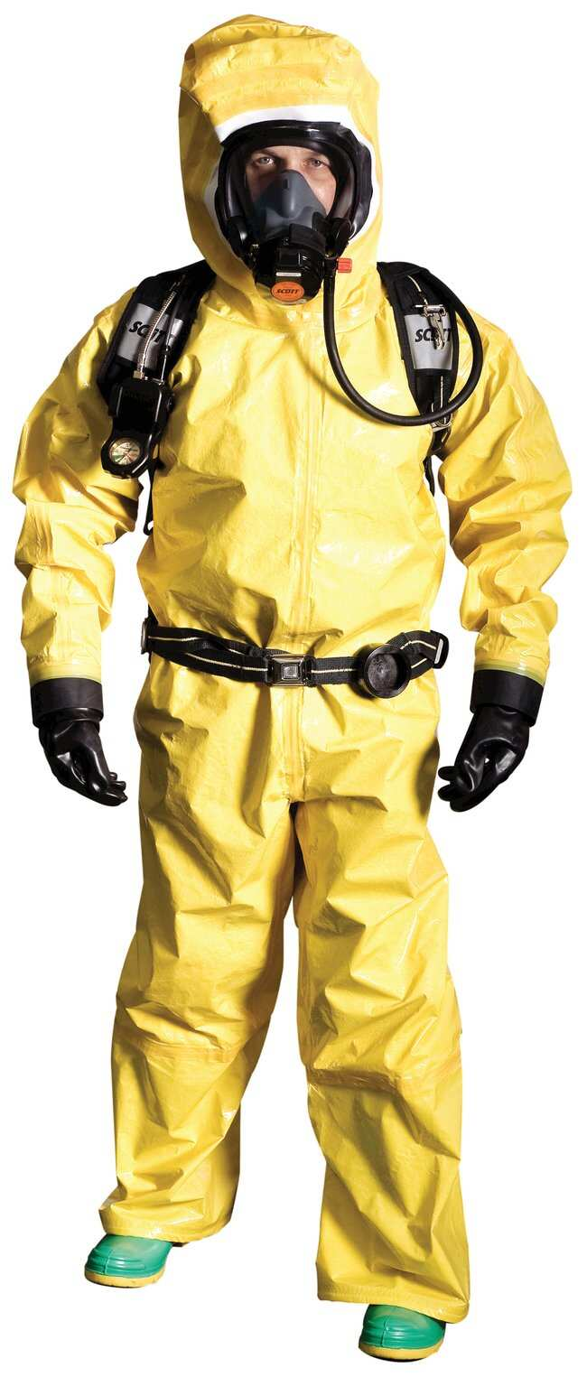 DuPont Tychem BR NFPA 1994 Class 2 Coveralls Rear Entry; Medium:Gloves,