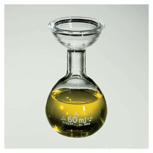 PYREXClass A Flask for Saybolt Viscosimeter 60mL:Flasks