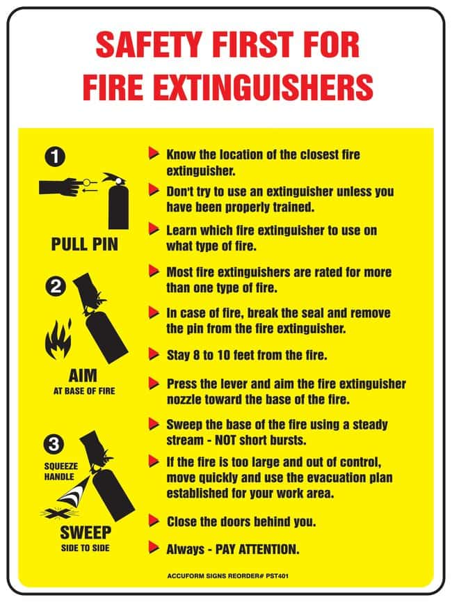 Accuform Signs Safety First Fire Extinguisher Poster Size: 61 x 45.7cm