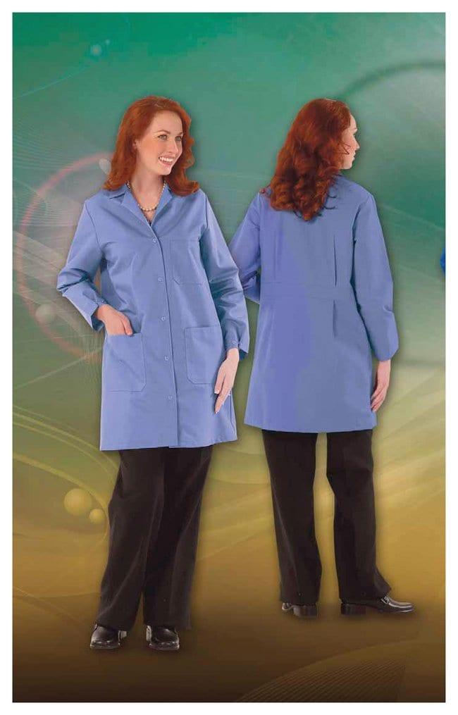 Superior Uniform Worklon Microstat ESD Unisex Lab Coats Blue; Size:  X-Large:Gloves,