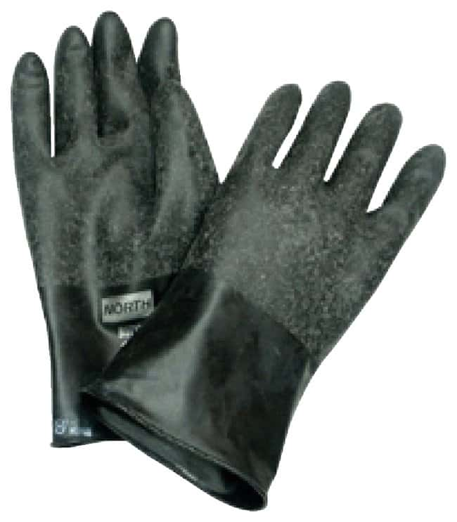 "Honeywell North Butyl Gloves Size 10; Rough""Grip-Saf"" finish;"