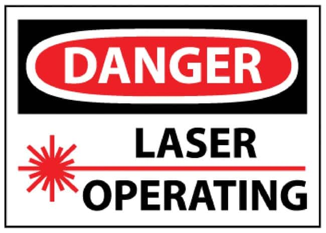 National MarkerDanger Laser Operating Signs Rigid plastic; Size: 10 x 14
