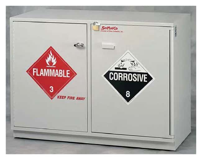 SciMatCo Under-The-Counter Fully Lined Combination Acid/Flammables Cabinet:Fume
