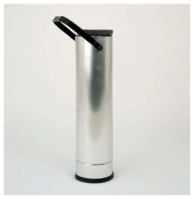 Fisherbrand Metal-Cased Cylindrical Dewar Flasks 2 qt. (1.9L), With handle