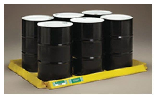 CEP ENPAC Spillpal Drum Pallets Six drum pallet, 4ft. (1.2m) L x 6ft. (1.8m)