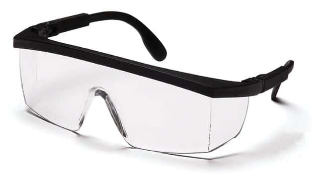 Pyramex Integra Safety Glasses Black frame, clear lens:Gloves, Glasses