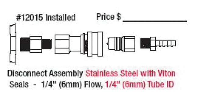 Justrite Custom Safety Disposal Can Fittings  Stainless steel; 1/4 in.