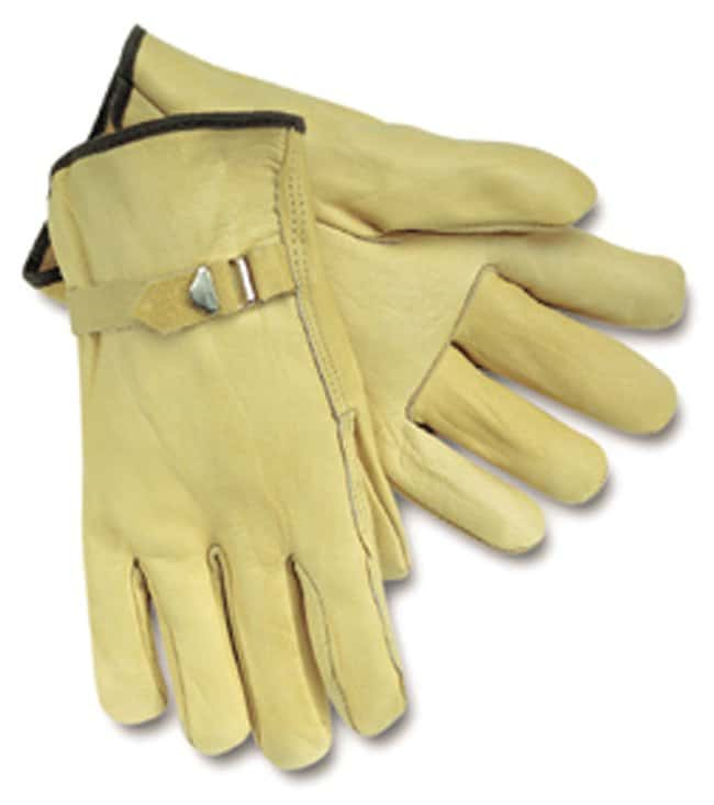MCR Safety Memphis Gloves Leather Drivers Gloves Premium Grade, Unlined,