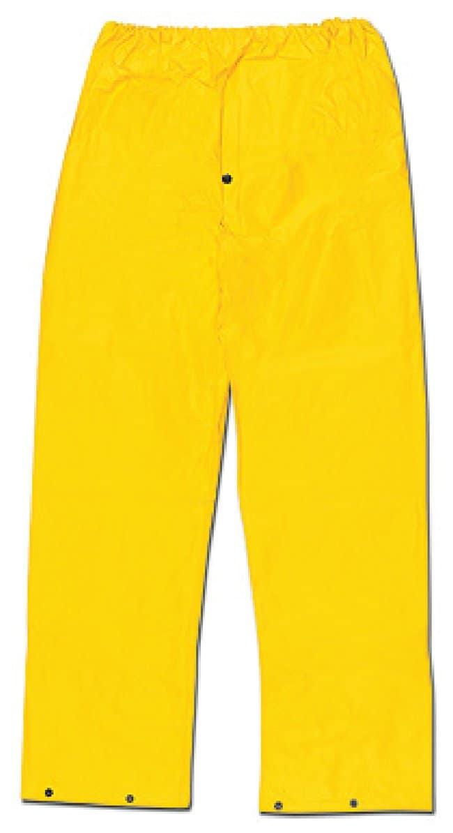 MCR Safety Cyclone PVC/Nylon Rainwear 400 Waist Pants; Yellow; Medium:Gloves,