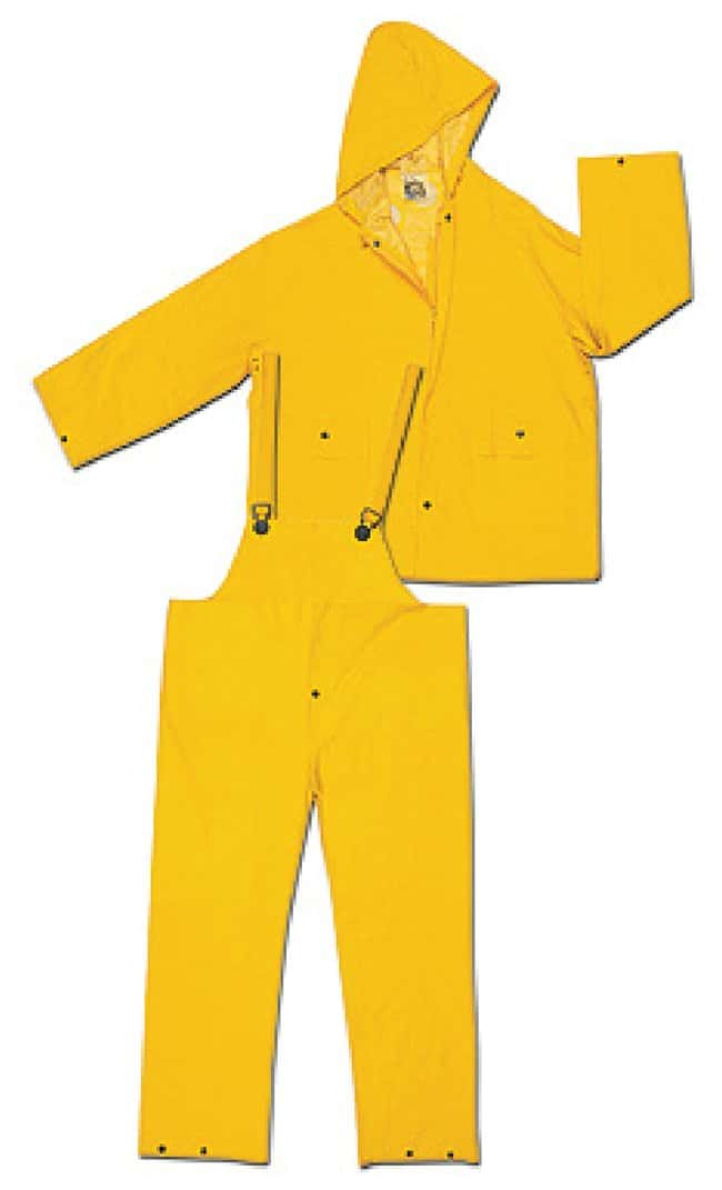MCR Safety Classic PVC/Polyester Complete Rainwear Suits 2202 Suit; Yellow;