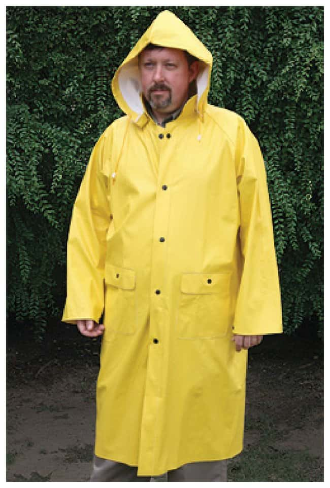 MCR Safety Commodore PVC Coated Rainwear 600 Rain Coat; Yellow; X-Large:Gloves,