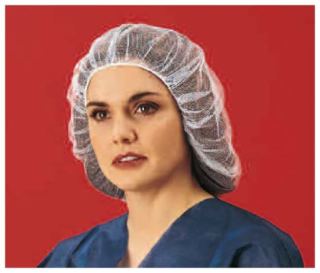 Keystone Latex-free Hairnets 3 thread; 0.25 in. opening; White; Size: 25