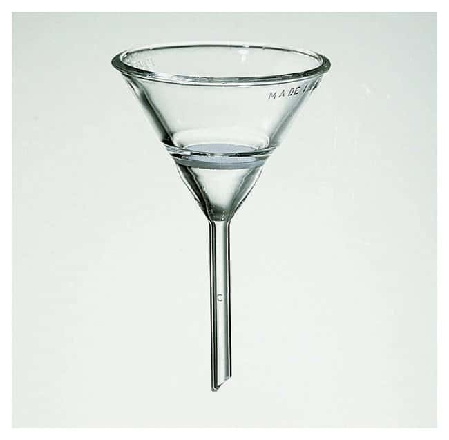PYREX Hirsch-Type Funnel with Fritted Disc Coarse; Top dia.: 75mm:Beakers,