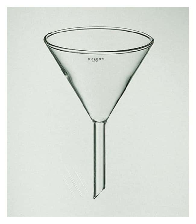 PYREX Funnels with 60 Angle Bowls and 100mm Stems  Top dia.:147mm; Stem
